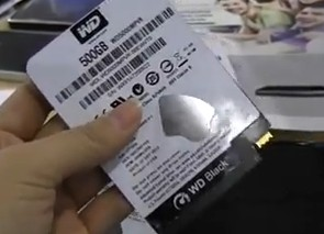 Western Digital s kapacitou 500 GB a hrúbkou 5 mm